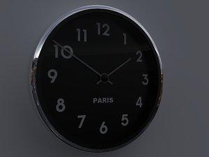 3D clock house model