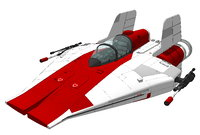 3D model a-wing rebel fighter
