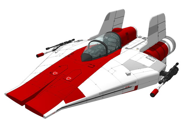 3D model a-wing rebel fighter