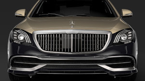 3D mercedes maybach s 560 model