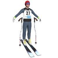 3D skier ski