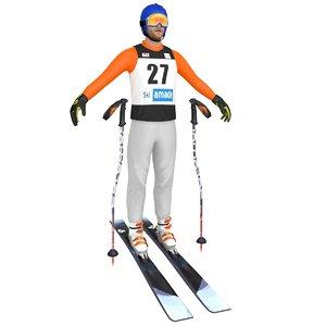 skier ski model