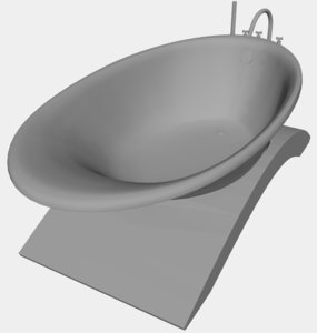 luxury bathtub 3D