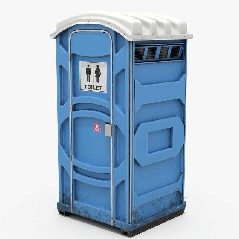 mobile toilet 3D model