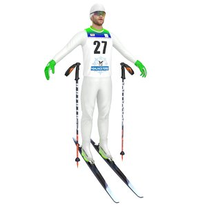 cross country skier ski model