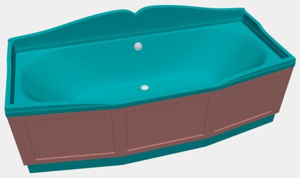 3D bath bathtub model