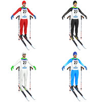 pack cross country skier 3D