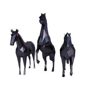 horse set 3D model