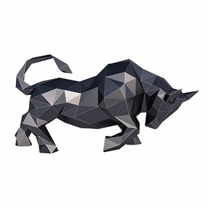 3D animal bull mammal