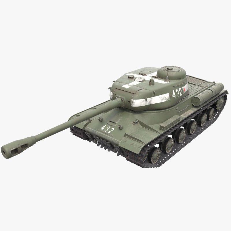 is-2 tank 3D model