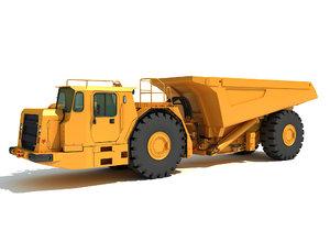 3D underground articulated mining truck