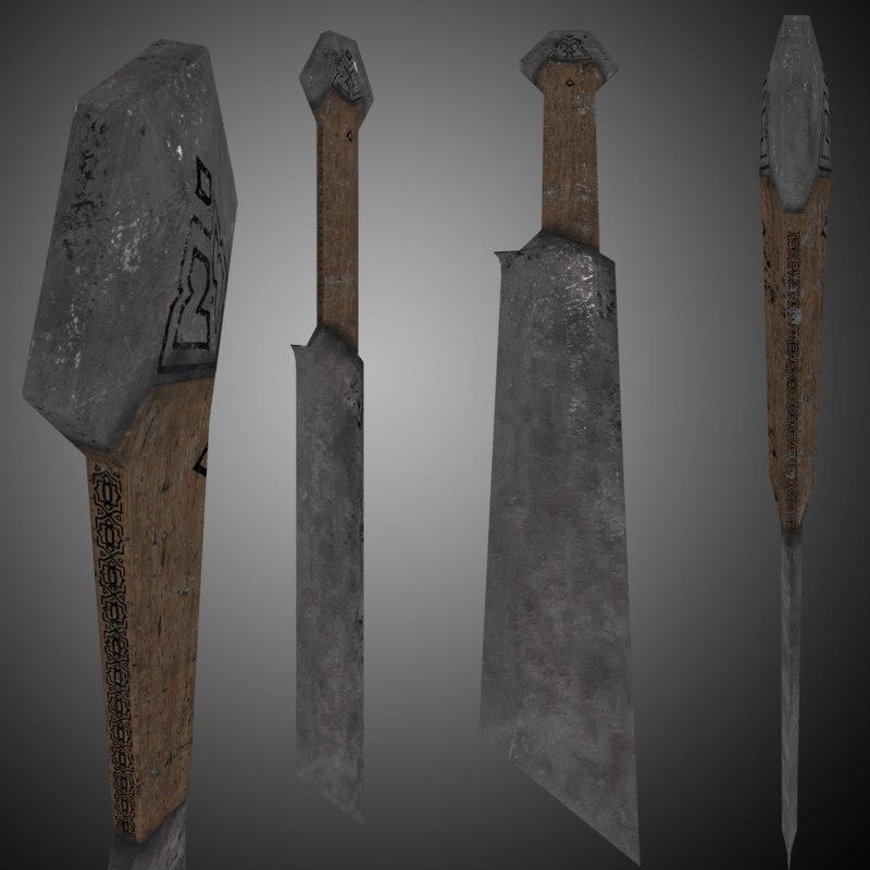sword weapon 3D model