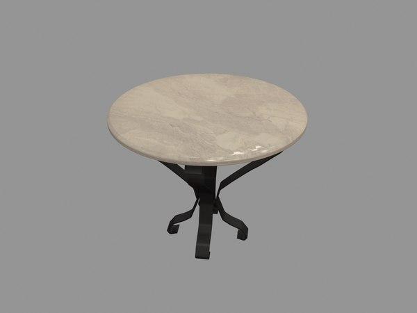 table cast iron 3D model