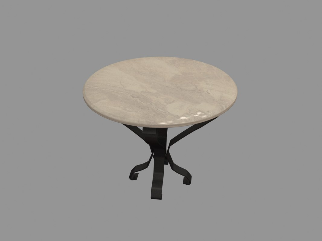 table cast iron 3D model