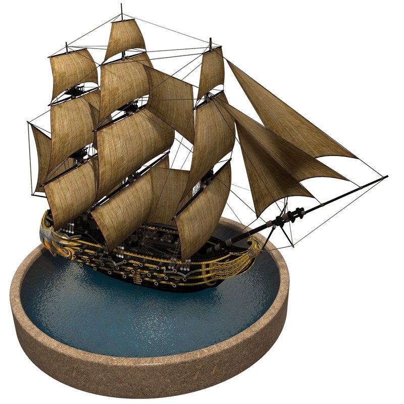 3D pirate games sails