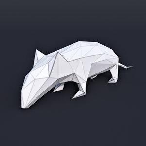 animal mammal mouse 3D model