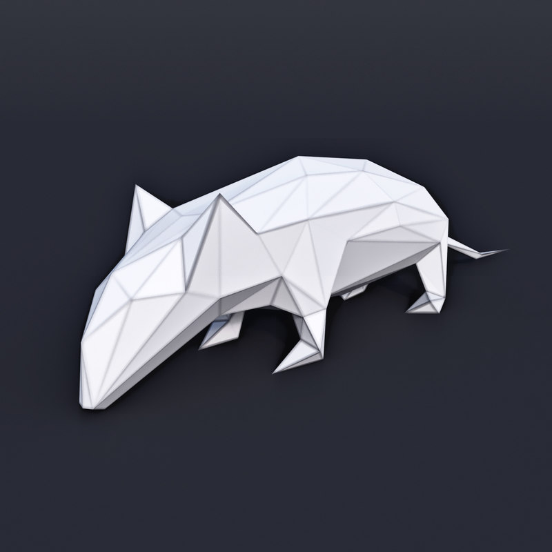 animal mammal mouse 3D model