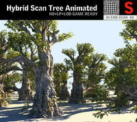 3D tree scanned ready