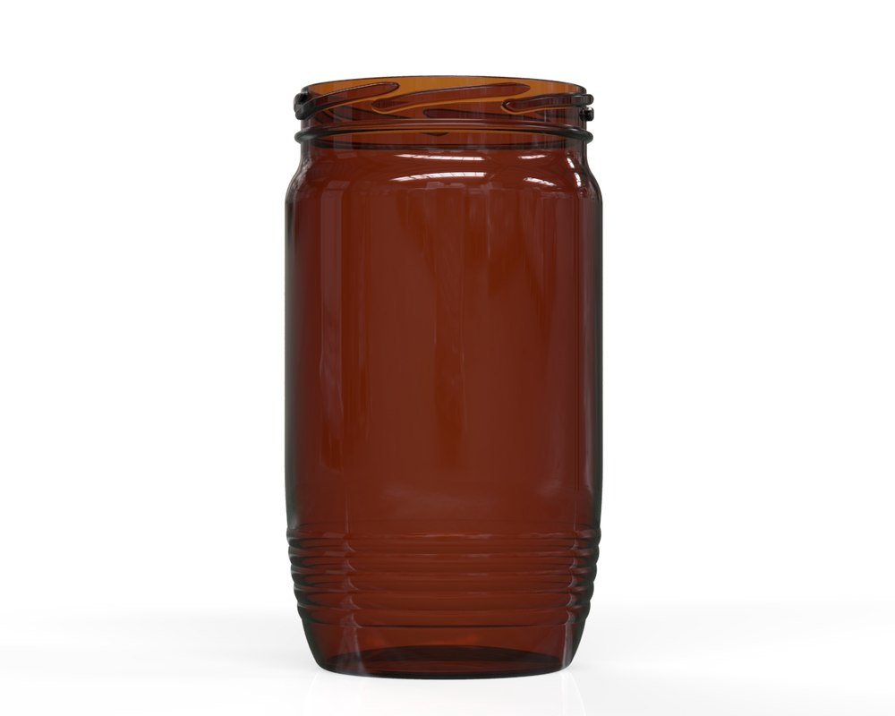 3D model glass jar 2