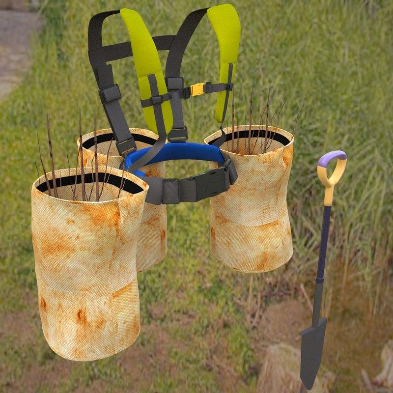 tree harness 3D model