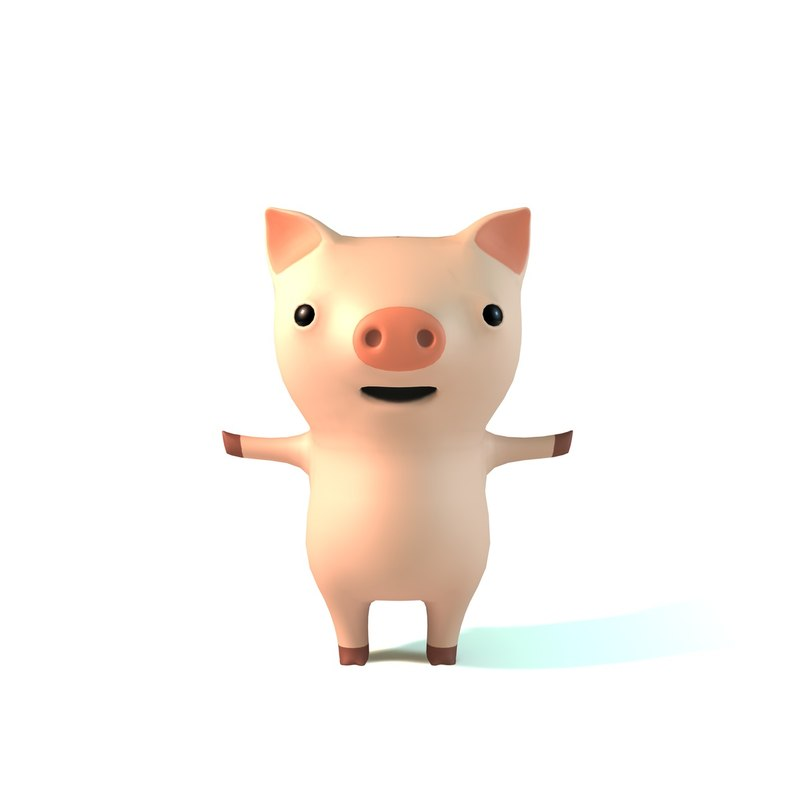 3D cute pig