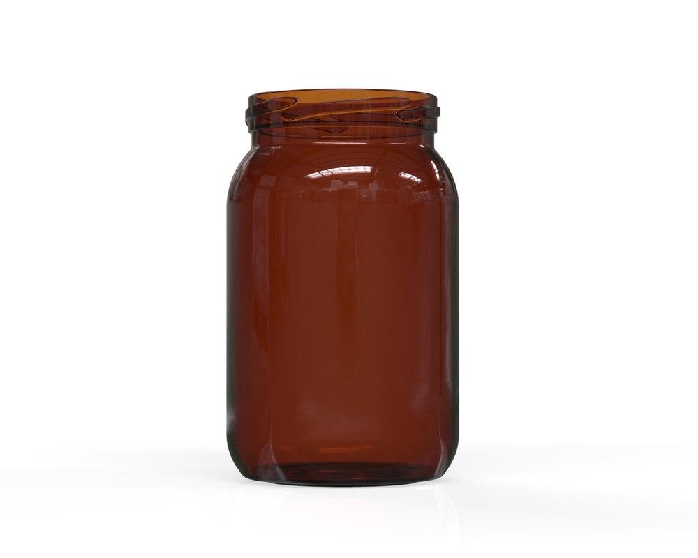 3D glass jar 11 model