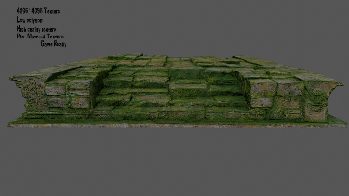 stairs steps staircase 3D