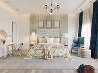 modern bedroom scene interior 3D model