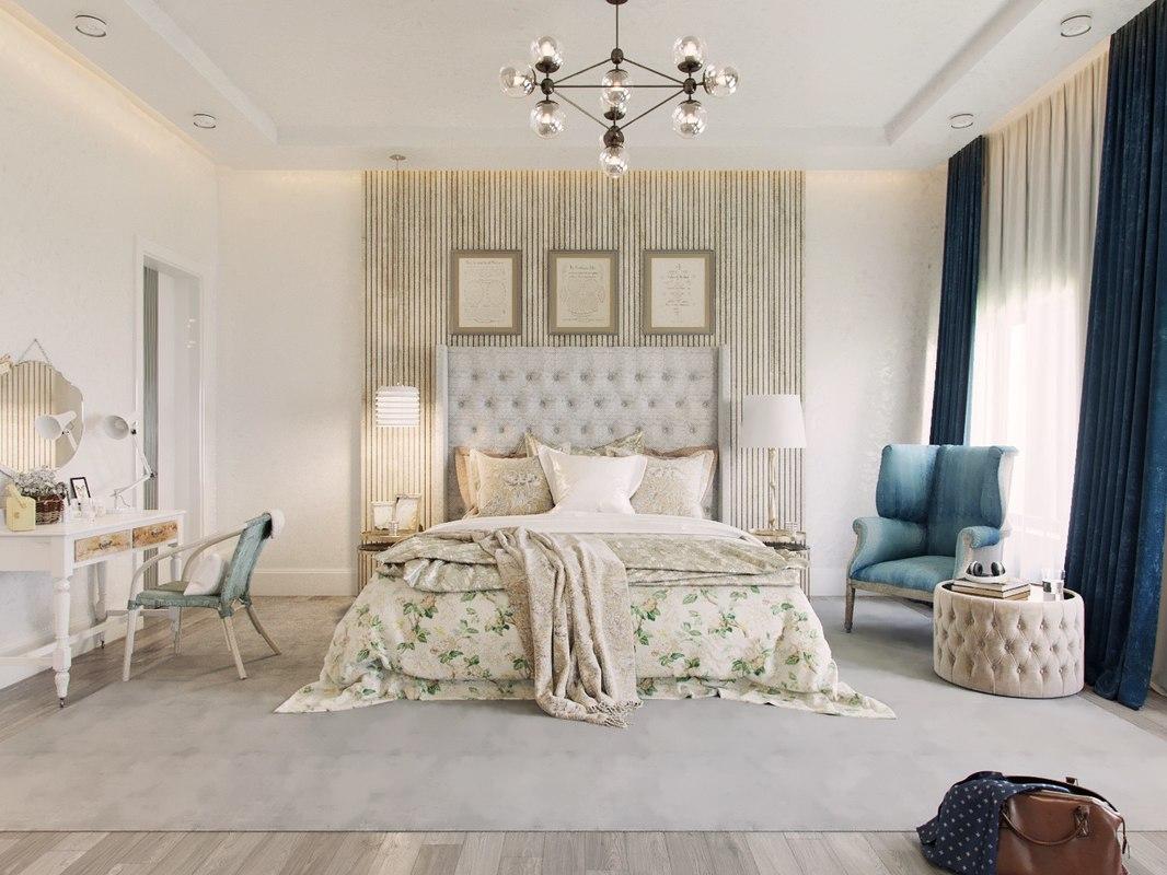 Modern bedroom scene interior 3d model turbosquid 1284618