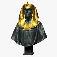 3D model pharaoh sculpture