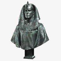 3D model pharaoh sculpture