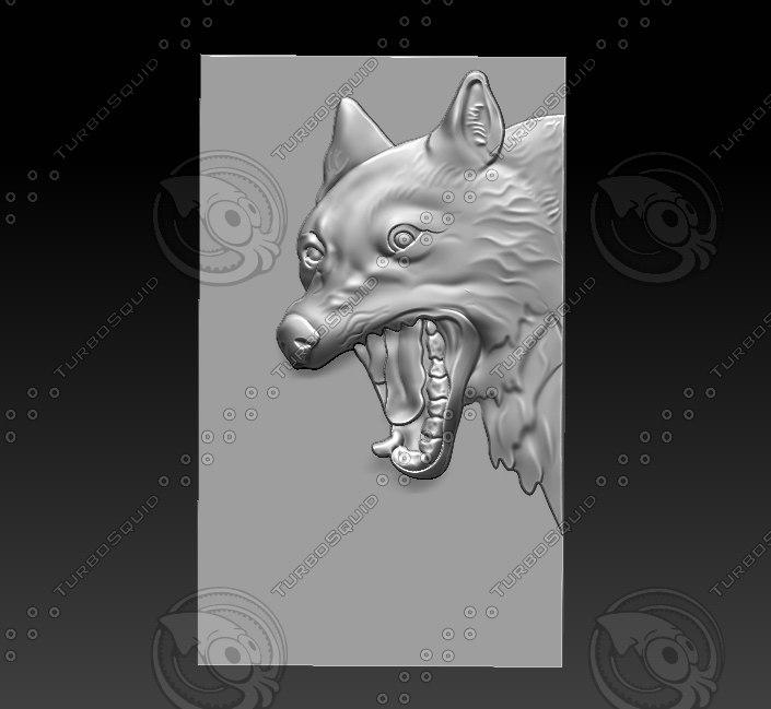 stl wolf model