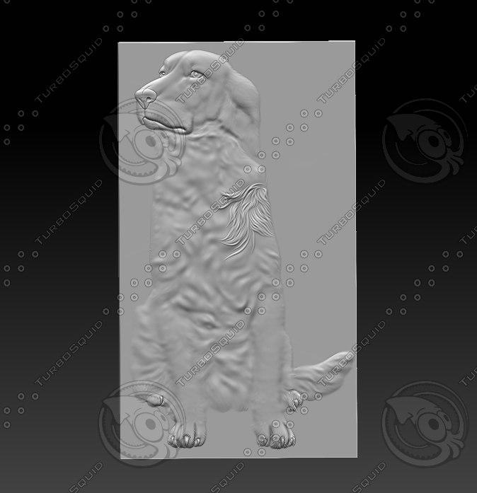 3D stl dog