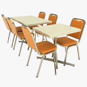 3D restaurant table