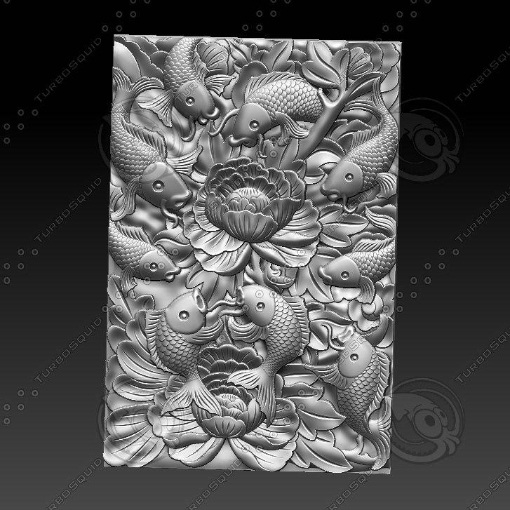 3D stl fish model
