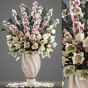bouquet flowers tulips sakura model