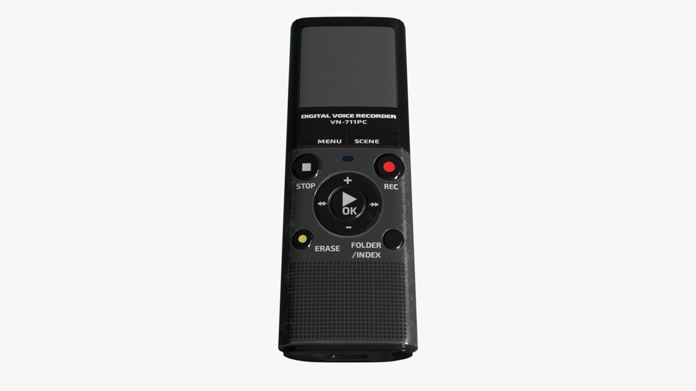 3D olympus vn-711pc digital voice
