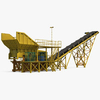 3D stone crusher machine