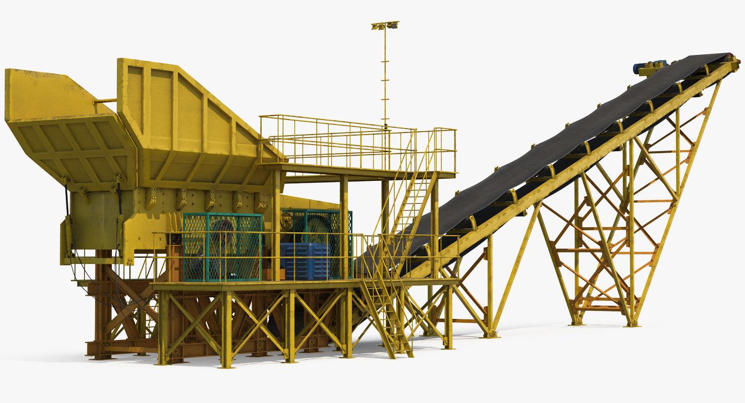3D stone crusher machine