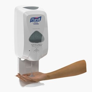 3D sanitizer dispenser hand model