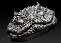 3D lizard ring model