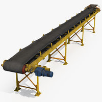 3D industrial belt conveyor