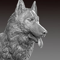 german shepherd realistic model