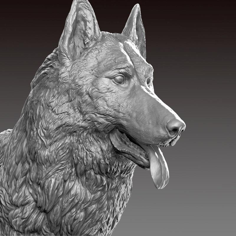 german shepherd realistic model