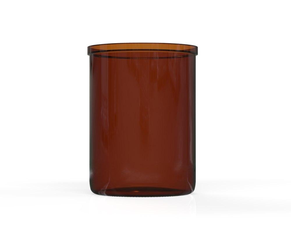 3D glass jar 18