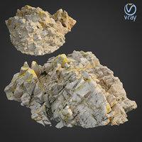 scanned rock cliff p2 3D