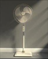 3D photorealistic standing fan model