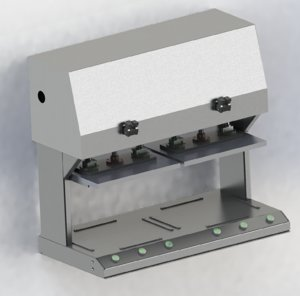 3D double stations machine laminated