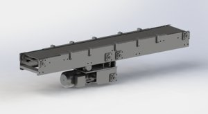 3D cold rolled sheet conveyor model