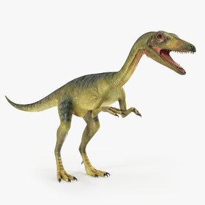 3D compsognathus carnivorous dinosaur model